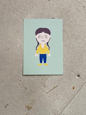 Postkarte Greta