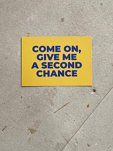 Postkarte 2nd Chance