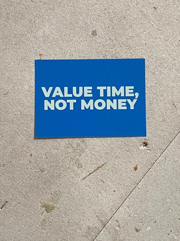 Postkarte Value Time