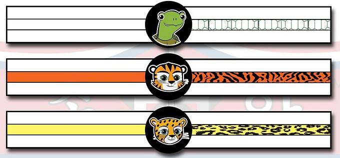 ATA Tigers White through Yellow  (Turtle through Cheeri Belts)