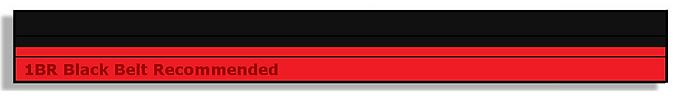 Red/Black Belts