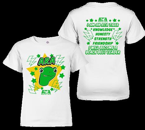 ATA Tigers White Ara Turtle T-Shirt