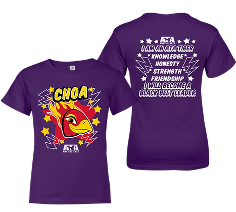 ATA Tigers Purple Choa Phoenix T-Shirt