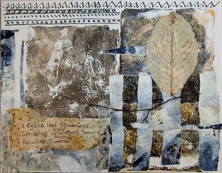Katharine Fletcher monoprint collage hai