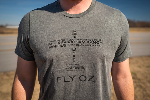 FLY OZ Great Places T-Shirt (Gray)