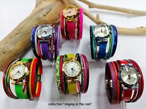 """montres bijoux """"MADRID"""" fermoirs aimantés et boitiers de montre en acier, couleurs vives et acidulées"""