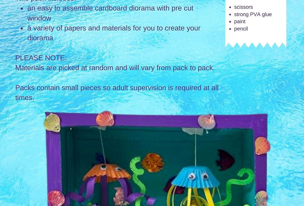 Under the sea diorama box