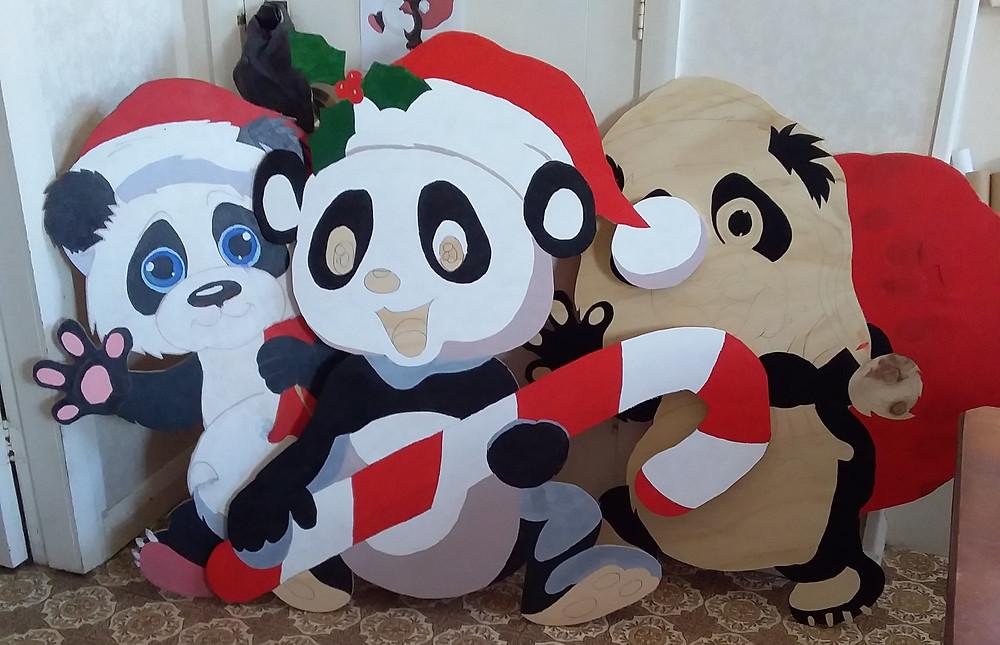 Panda Xmas Props