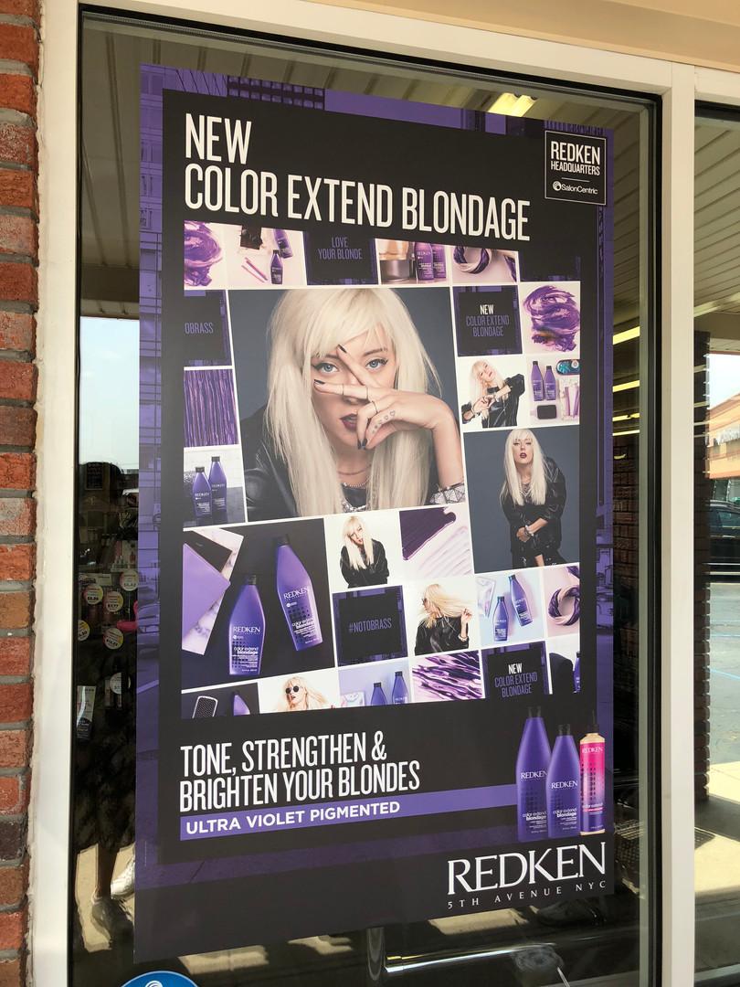 Redken Color Extend Blondage Window Decal