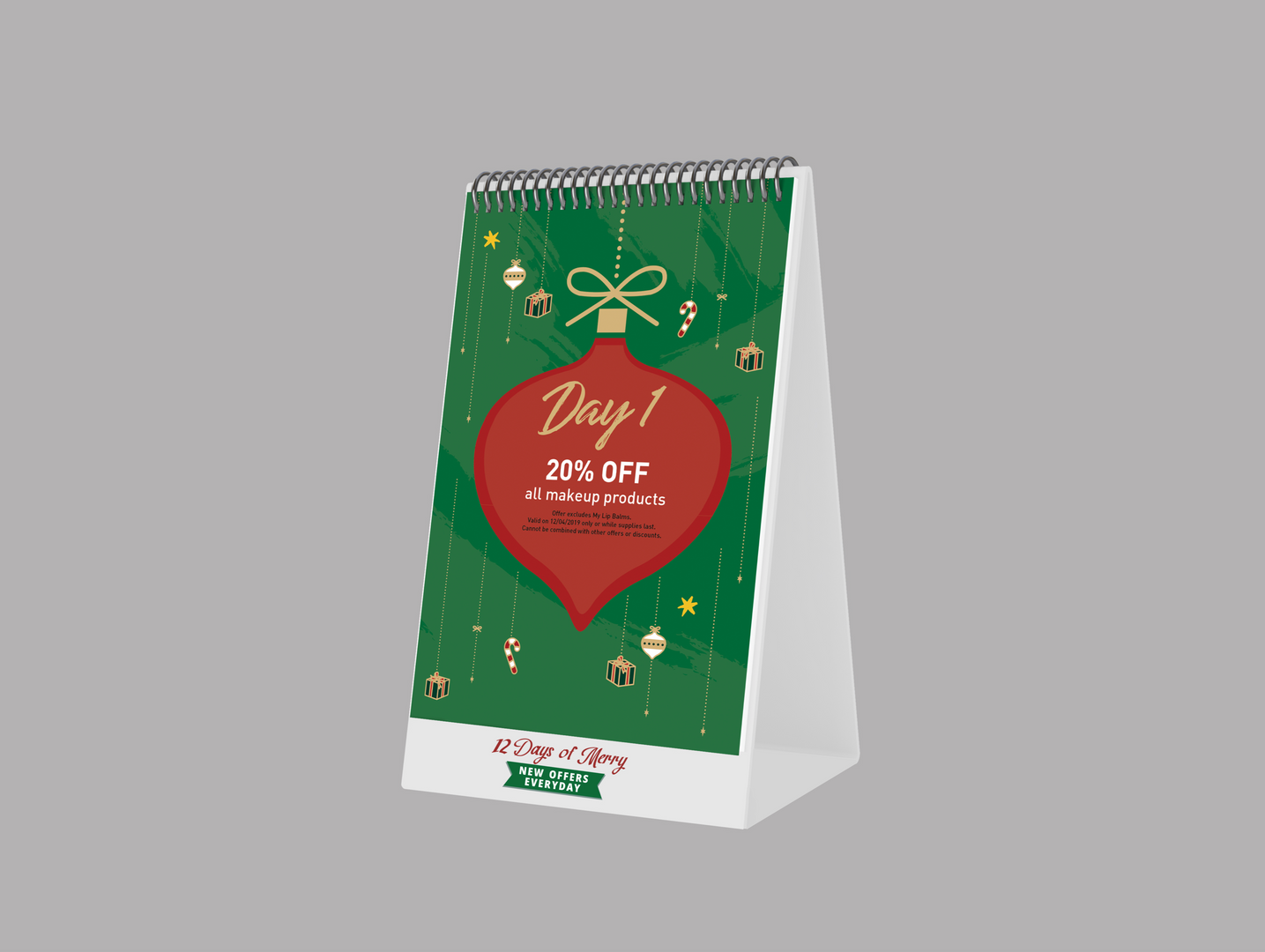 Innisfree Holiday In-Store Calendar