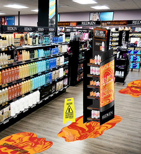 Redken Color Gels Lacquers Floorstand