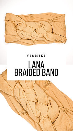 LANA Braided Headband In Mustard