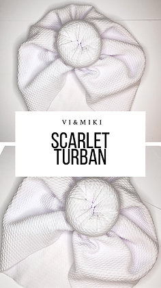 SCARLET Turban In White (Waffle Material)