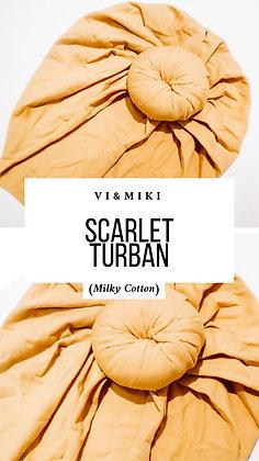 """""""Scaret"""" Turban In MUSTARD (Milky Cotton )"""
