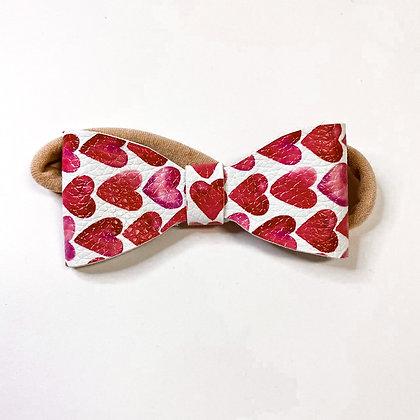 Valentines Watercolor Hearts On Soft Nylon
