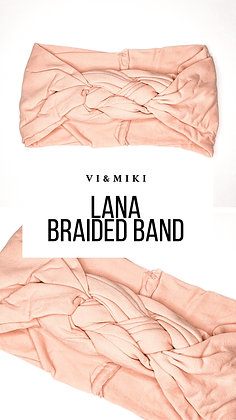 LANA Braided Headband In PINK