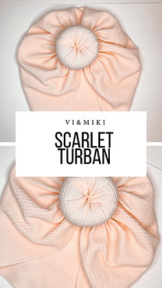 SCARLET Turban In Light Peach (Waffle Material)