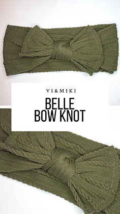 BELLE Bow Knot In Forest Green