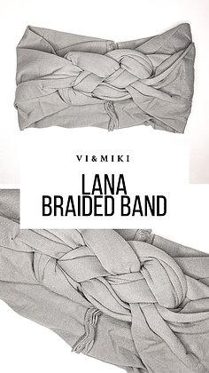 LANA Braided Headband In GRAY