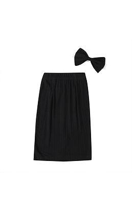 """KIERA"" Ribbed Maxi Skirt In Black"