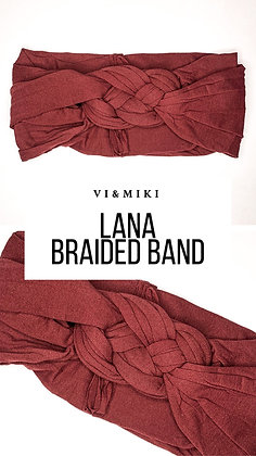 LANA Braided Headband In Maroon