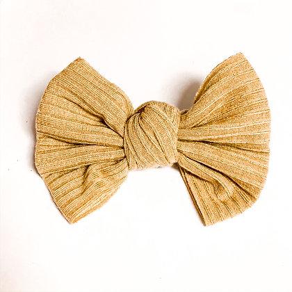 Mustard Ribbed Fabric On Soft Nylon