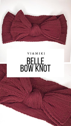 BELLE Bow Knot In Maroon