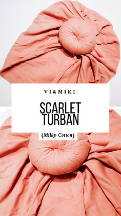 """Scarlet"" Turban In MAUVE (Milky Cotton)"