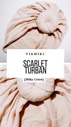 """Scarlet"" Turban in NUDE (Milky Cotton)"