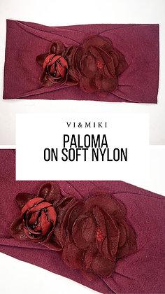 PALOMA Floral Headband In MAROON