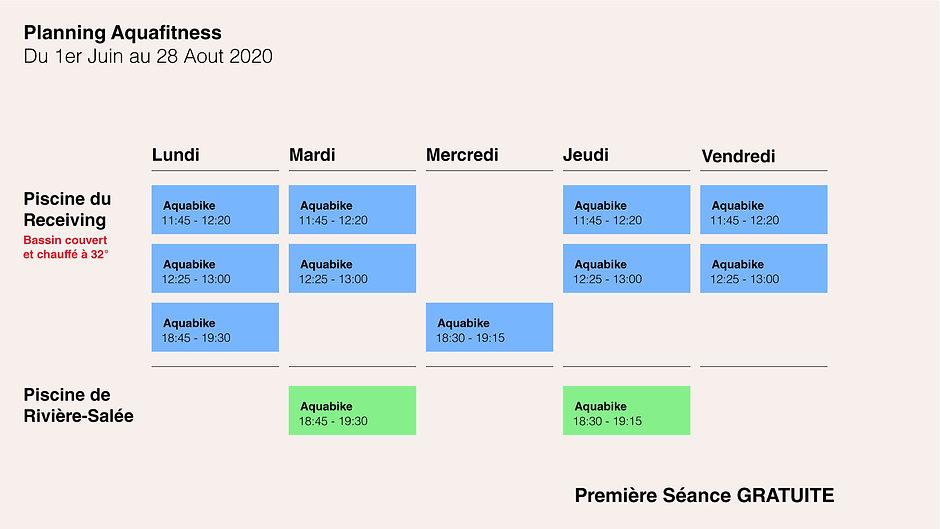 Planning Aquabike