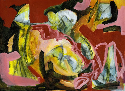 Red Abstraction Giclee Print