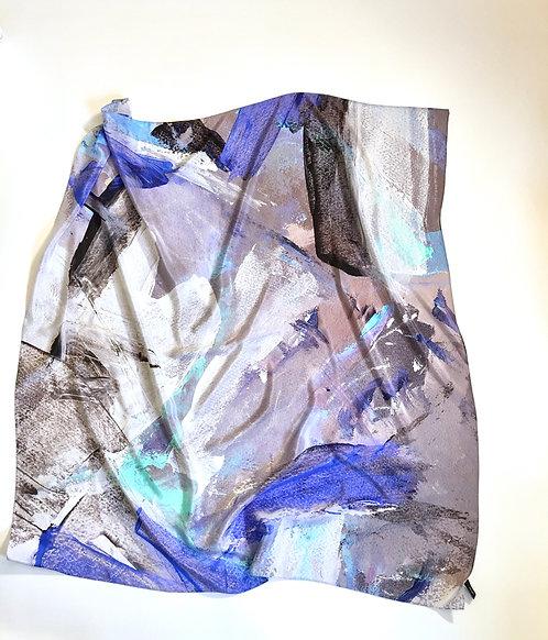 Nordic Dawn Silk Crepe de Chine Square Scarf