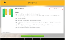 Cricket Play Rules