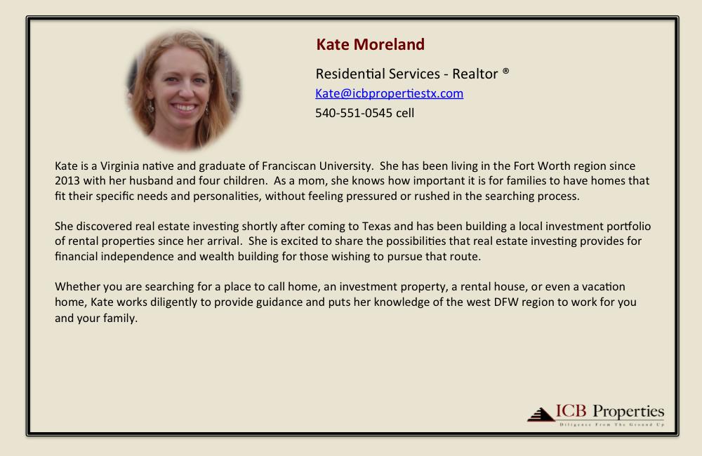 Kate Moreland - Agent
