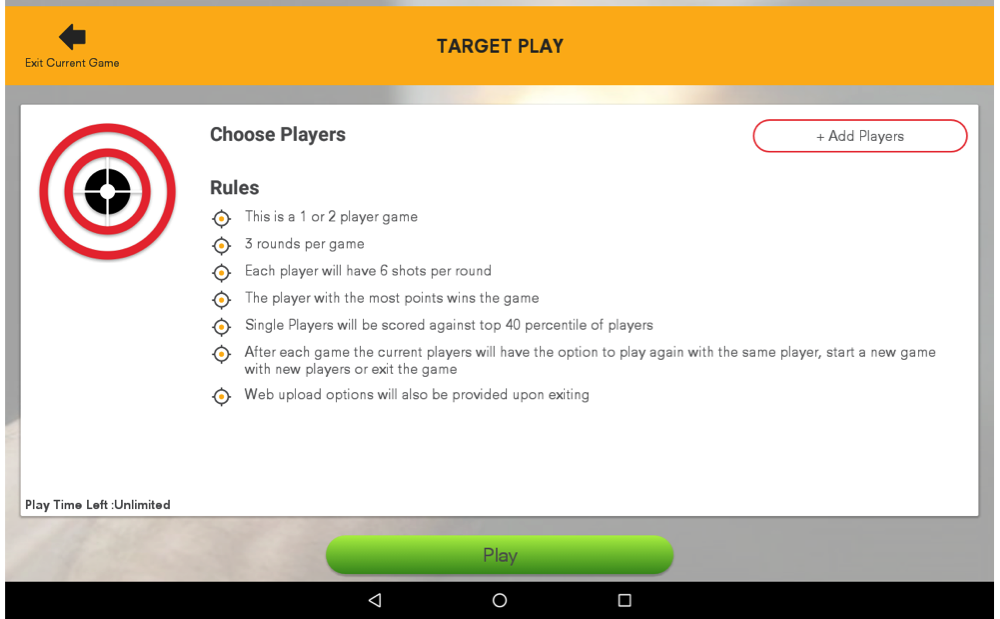 Target Play Rules