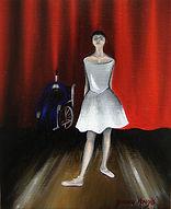 Huile sur toile, peinture, Garance Monziès, danseuse, danse, meurtre, révolte, thérapie, père, scène, ange