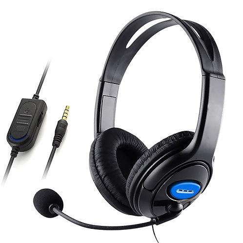 有線低噪頭戴式耳機 立體聲麥克風