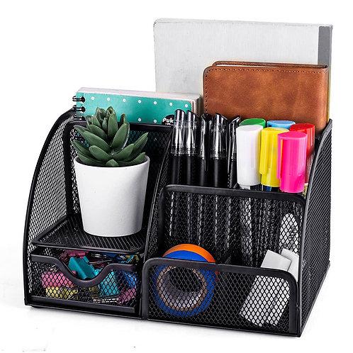 不鏽鋼大型辦公桌面筆筒 收納盒