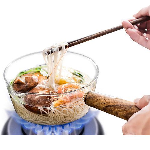可加熱玻璃牛奶鍋15cm-600mL 湯鍋 泡麵碗