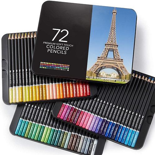 72色油性色鉛筆 畫家鐵盒系列