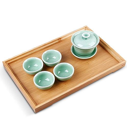等閑竹製茶盤 35*25cm  托盤
