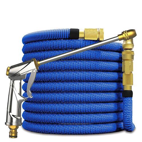 安全防爆伸縮高壓水管8M(細柱噴射+花灑)8段可調 水槍