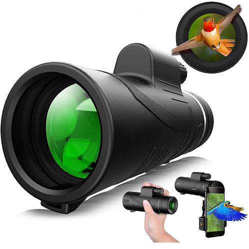 40X60防水單筒望遠鏡 (附手機拍攝夾)