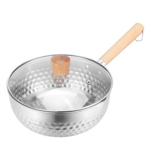 日式極厚雪平鍋18cm 附鍋蓋 牛奶鍋/單柄鍋/湯鍋