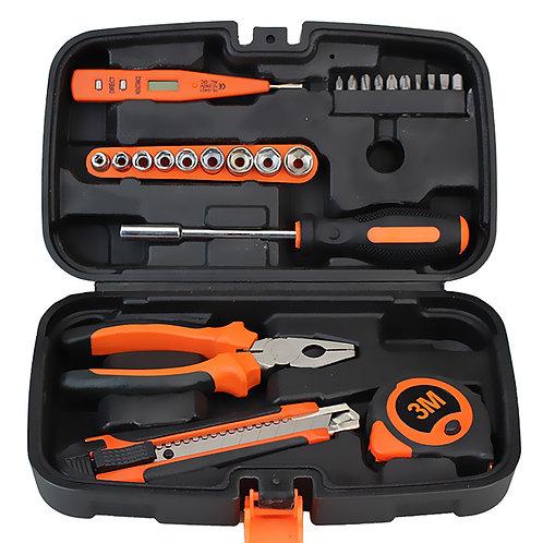24件家用修繕工具套裝 工具箱