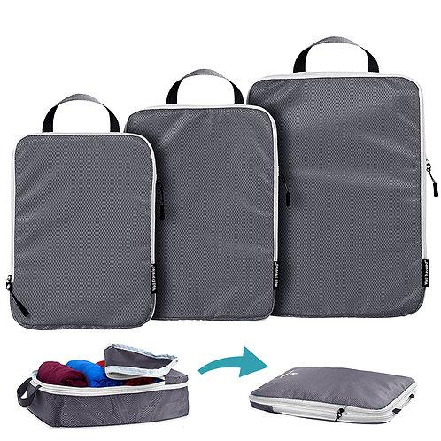 旅行衣物壓縮收納袋 (大中小-3入組) 收納包