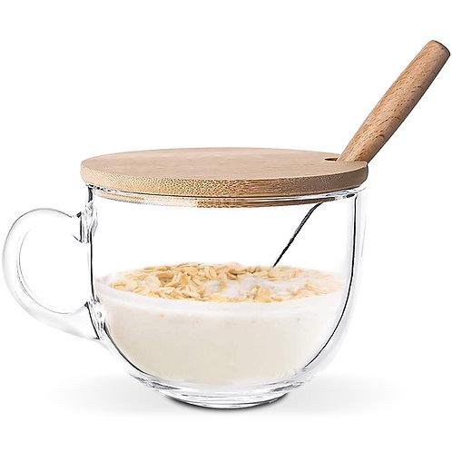 牛奶麥片早餐杯 450mL 玻璃杯