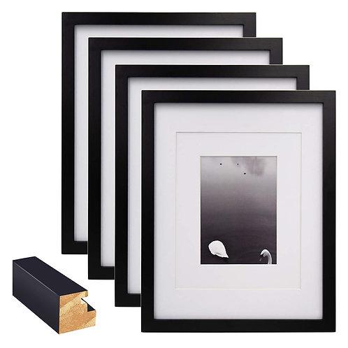 4X6簡約松木相框 黑色 4入組