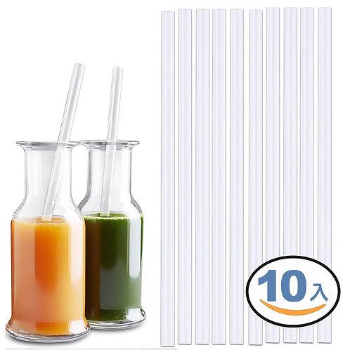 極厚矽膠環保吸管 10入組